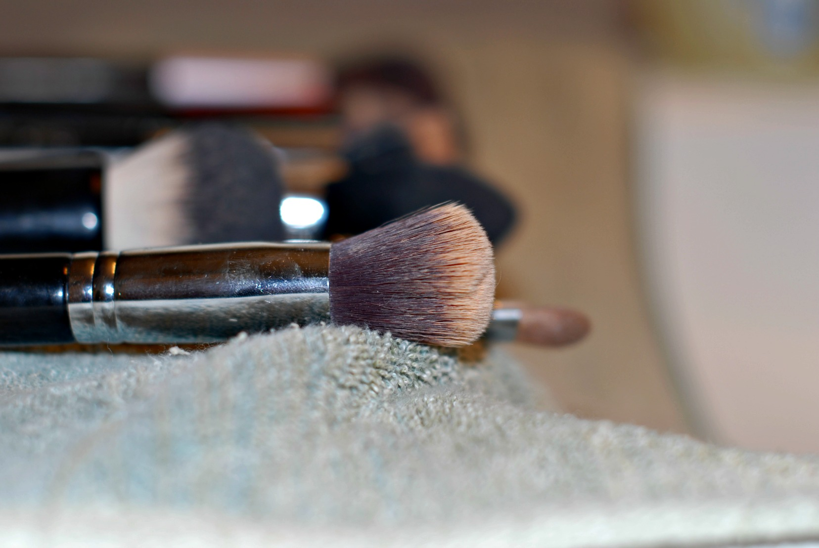brushes before
