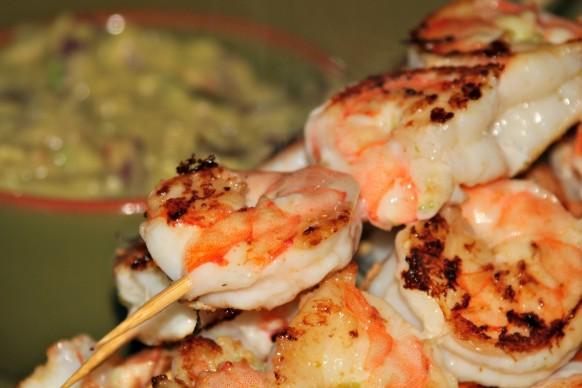 Easy shrimp & guacamole