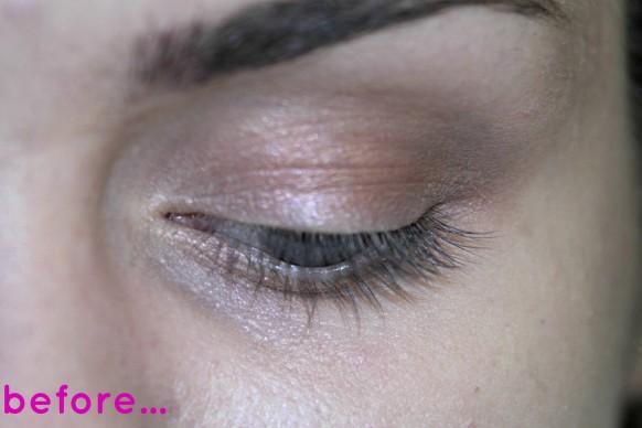 before eye