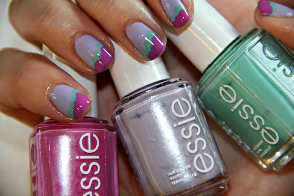 How to: Color block nails