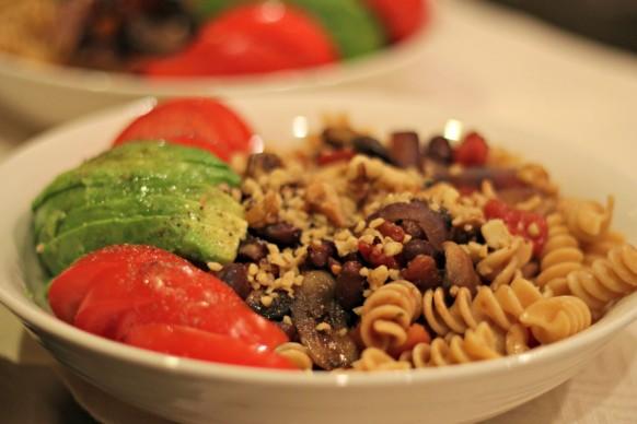 Easy & healthy vegetarian pasta