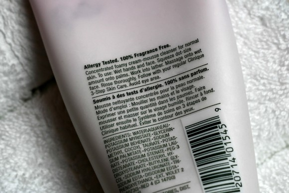 clinique foaming cleanser ingredients