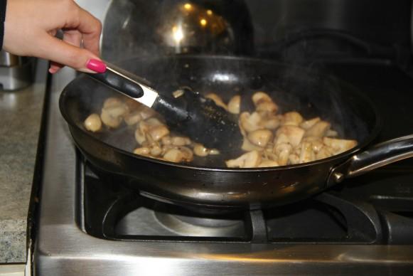 mushroom and beans mixed