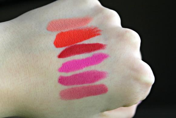 Nyx swatches matte lipsticks