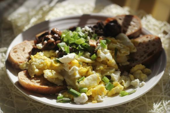 mushrooms and eggs