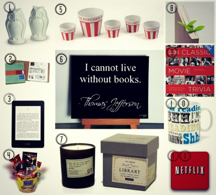 gift ideas for a book and movie lover