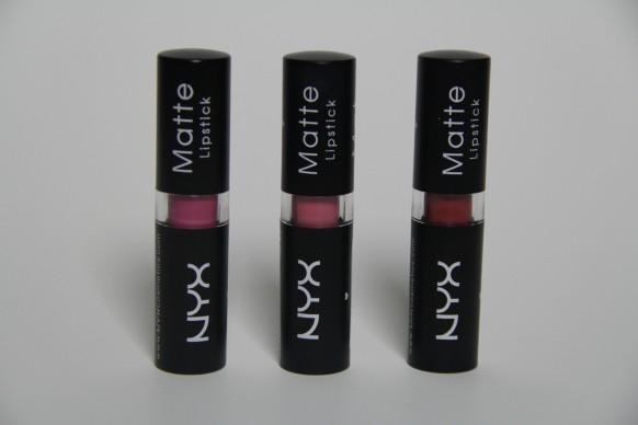 nyx matte lipsticks