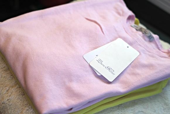 Zara basic long sweater pink