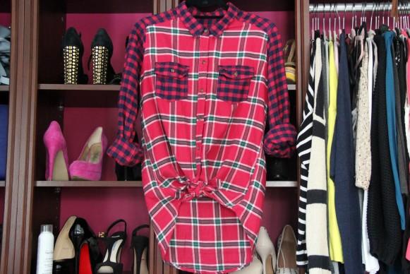 red plaid shirt a&f