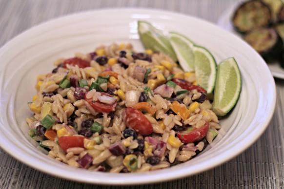 healthy orzo salad