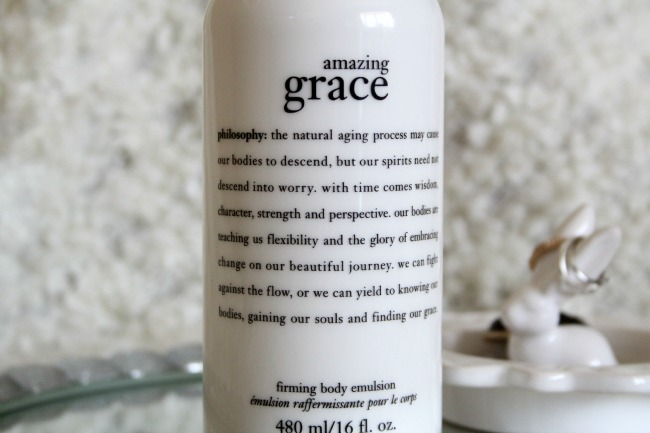 Amazing grace philosophy lotion blog review