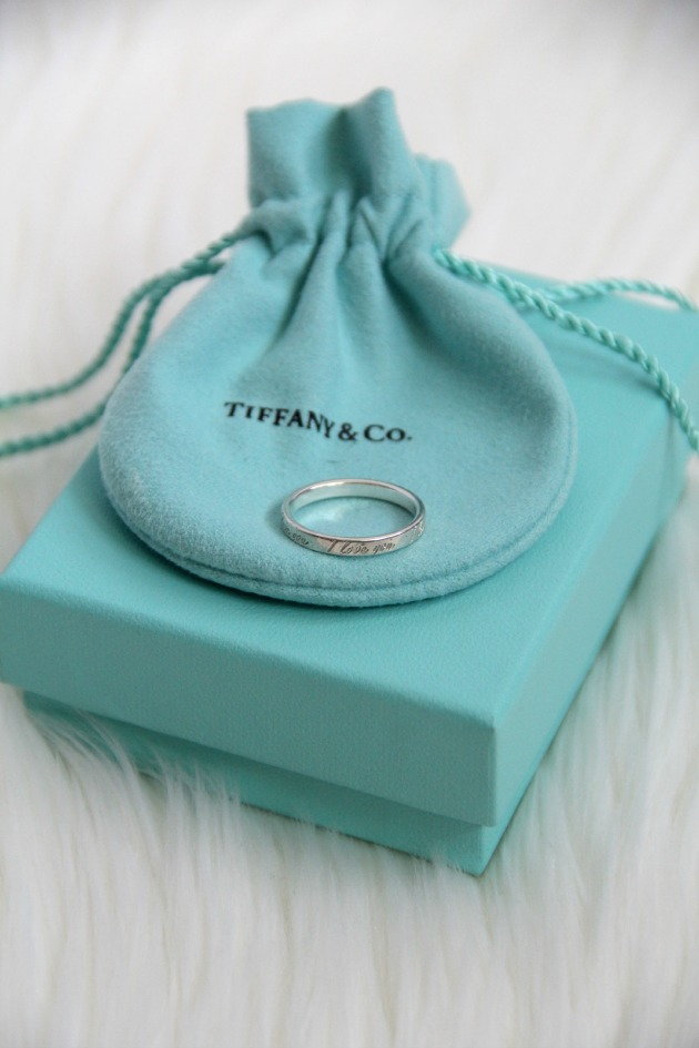 Tiffany & Co. I love you ring