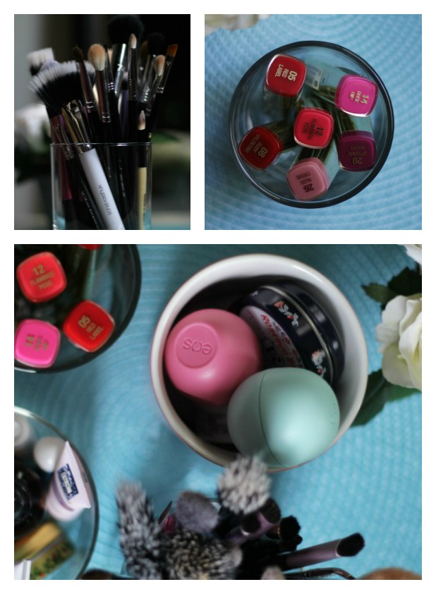 candle jars storage makeup