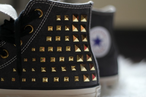 spiked denim converse shoes