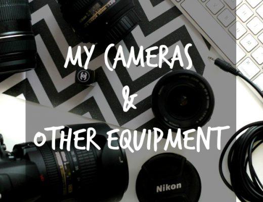 equipment and cameras for a blog