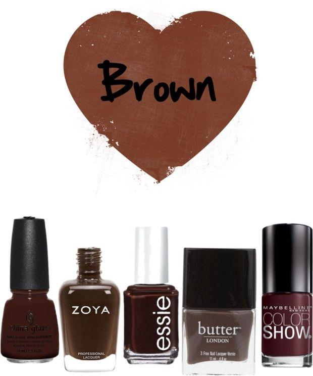 Brown nail polishes