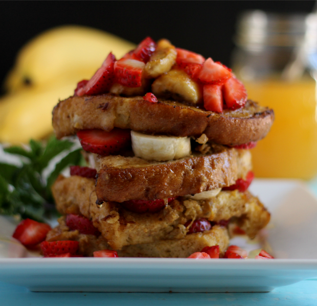 banana strawberry french toast recipe