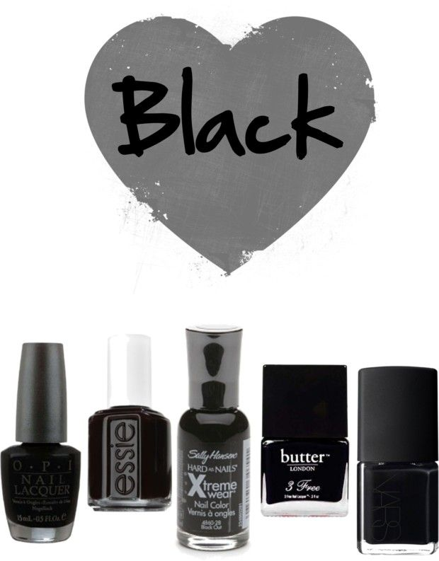 black nail polishes for fall2014