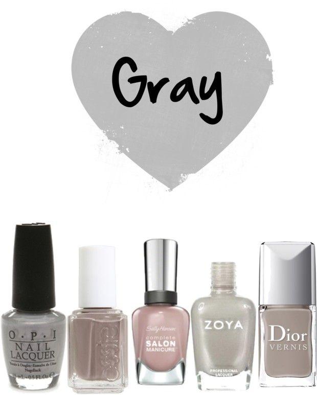 gray nail polishes