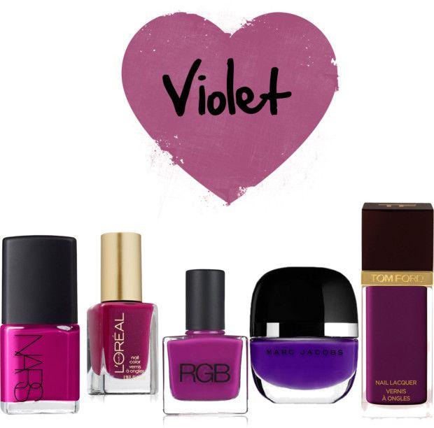 violet nail polishes