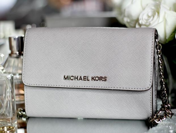 mk purse jet set brown michael kors crossbody handbag large