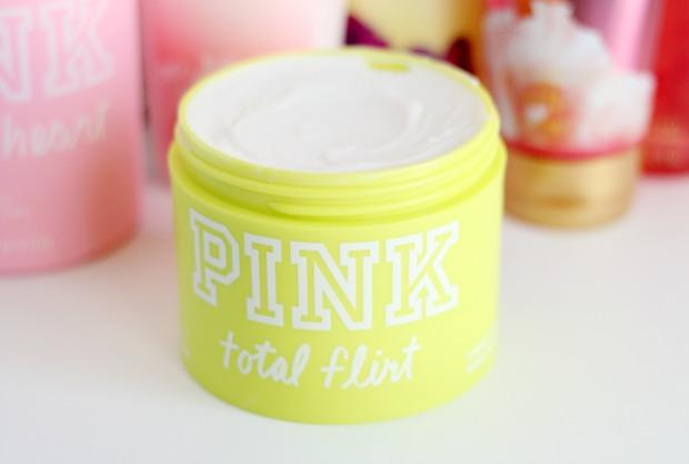 PINK total flirt body butter