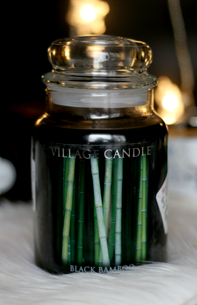 black bamboo candle