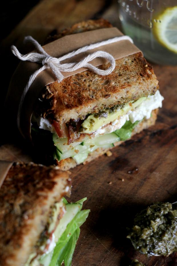 pesto sandwhich healthy sandwich