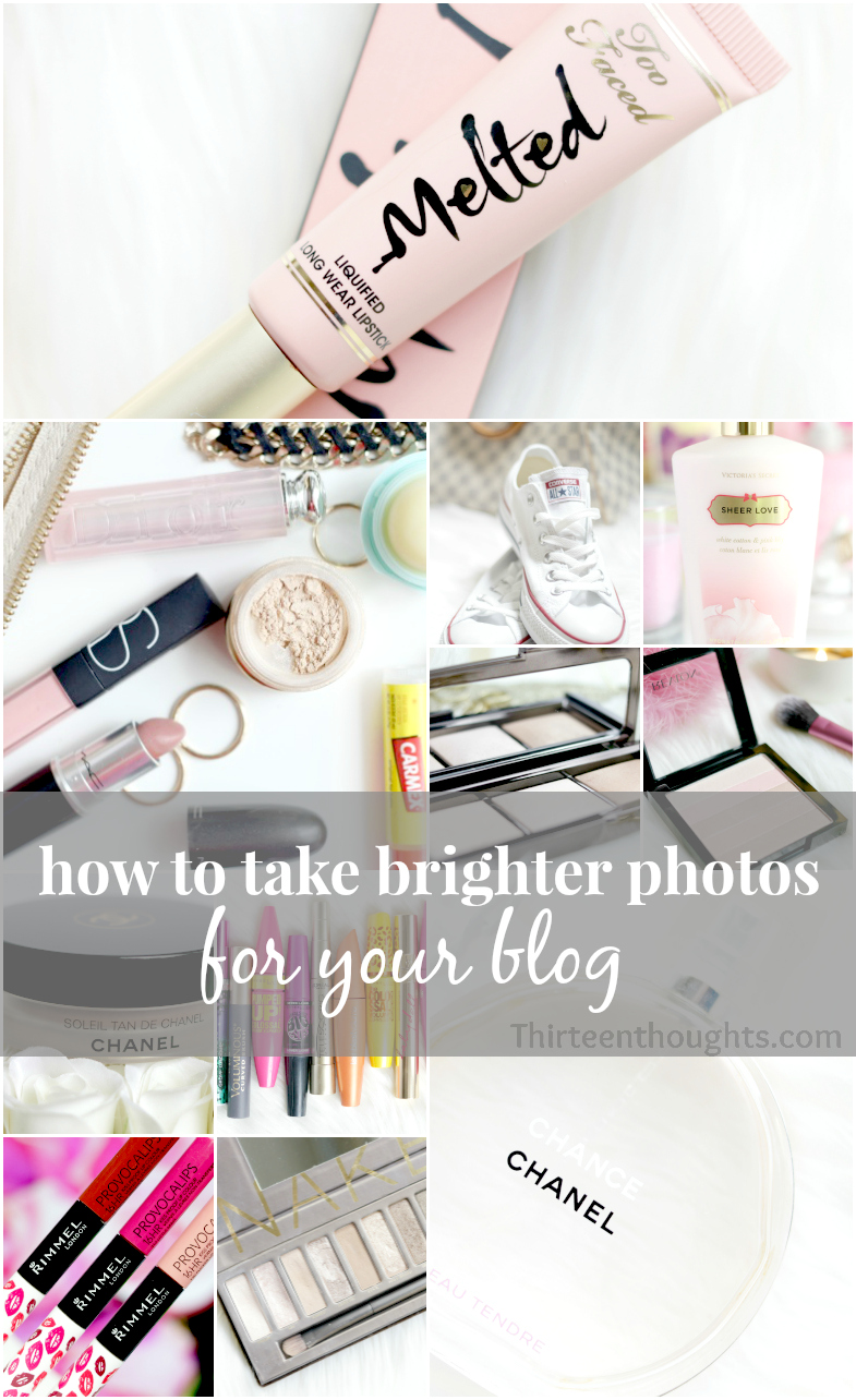 How to take bright photos for your blog.