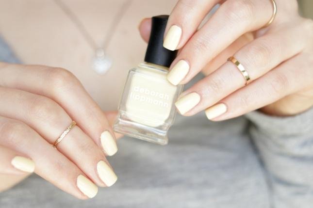 deborah lippmann pastel yellow polish