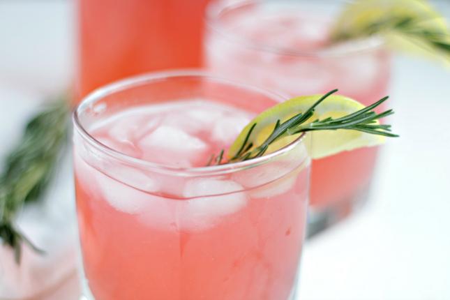 healthy pink lemonade