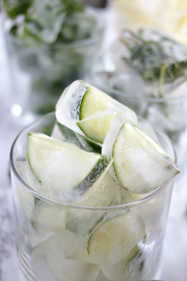 how to make Lime ice cubes