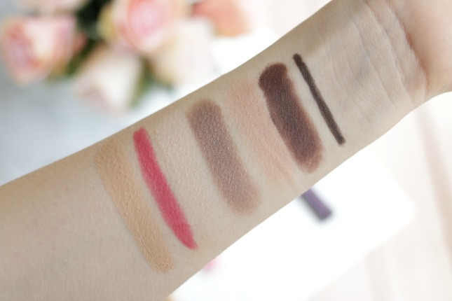 Tarte beauty in the basics swatches