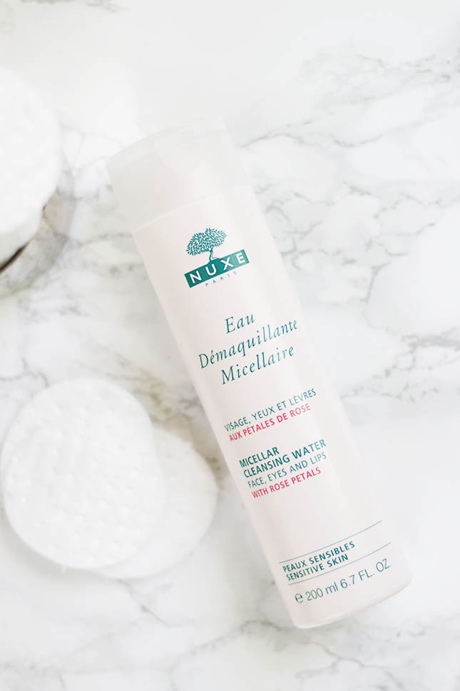 nuxe micellar cleansing water with rose petals