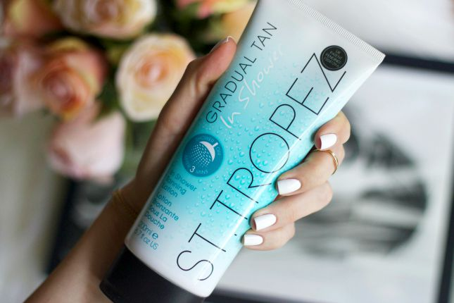 st. tropez in shower tanning lotion review