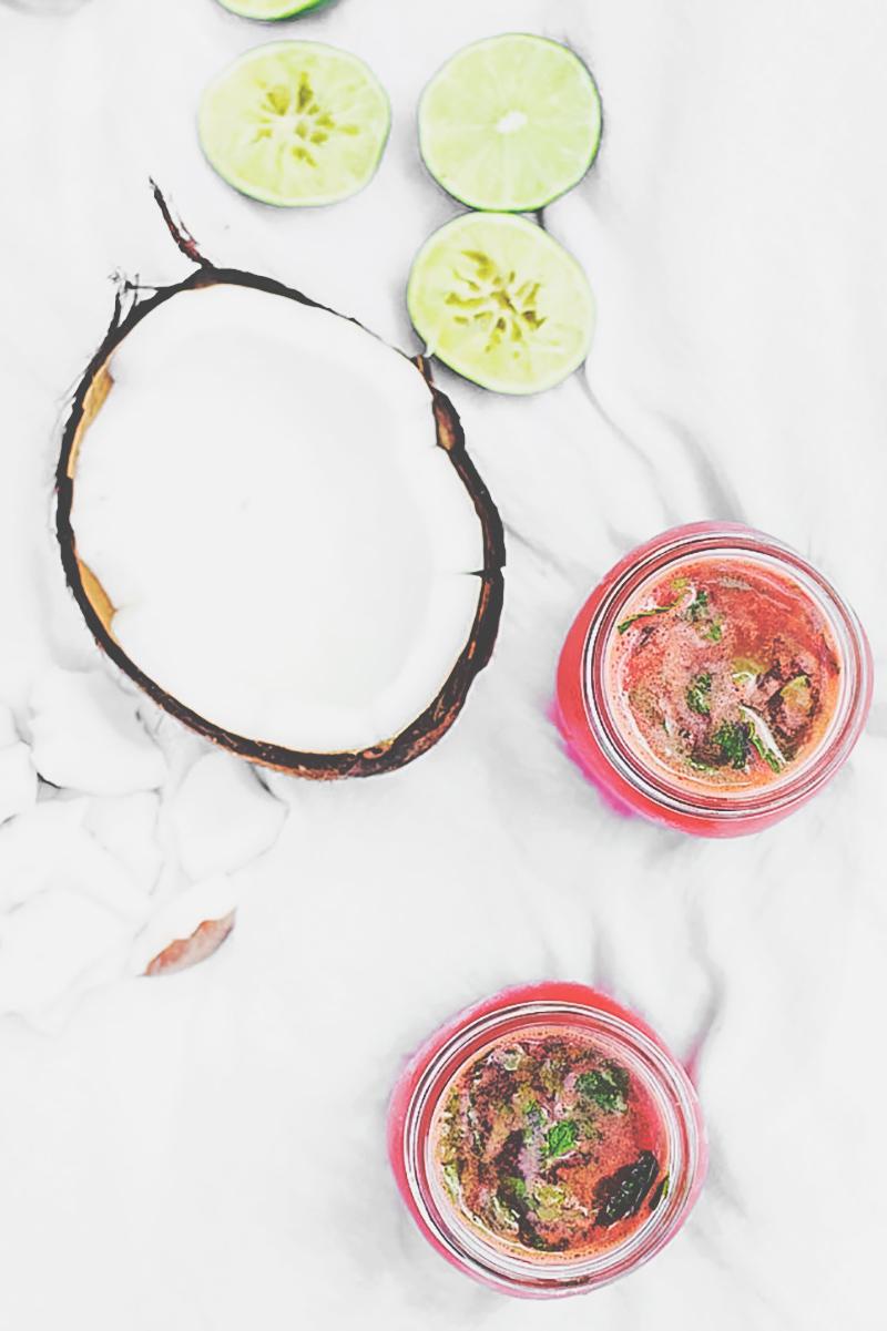 Watermelon Lime Coconut Drink Recipe