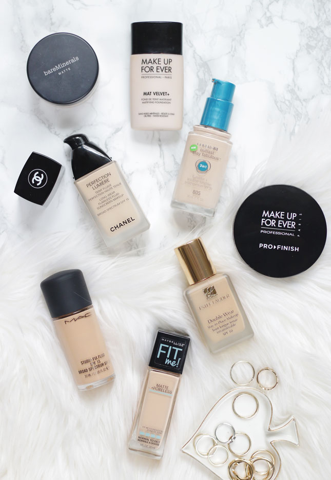 Matte foundations- my top 8