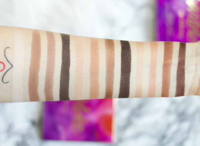 Tartelette 2 in the bloom swatches