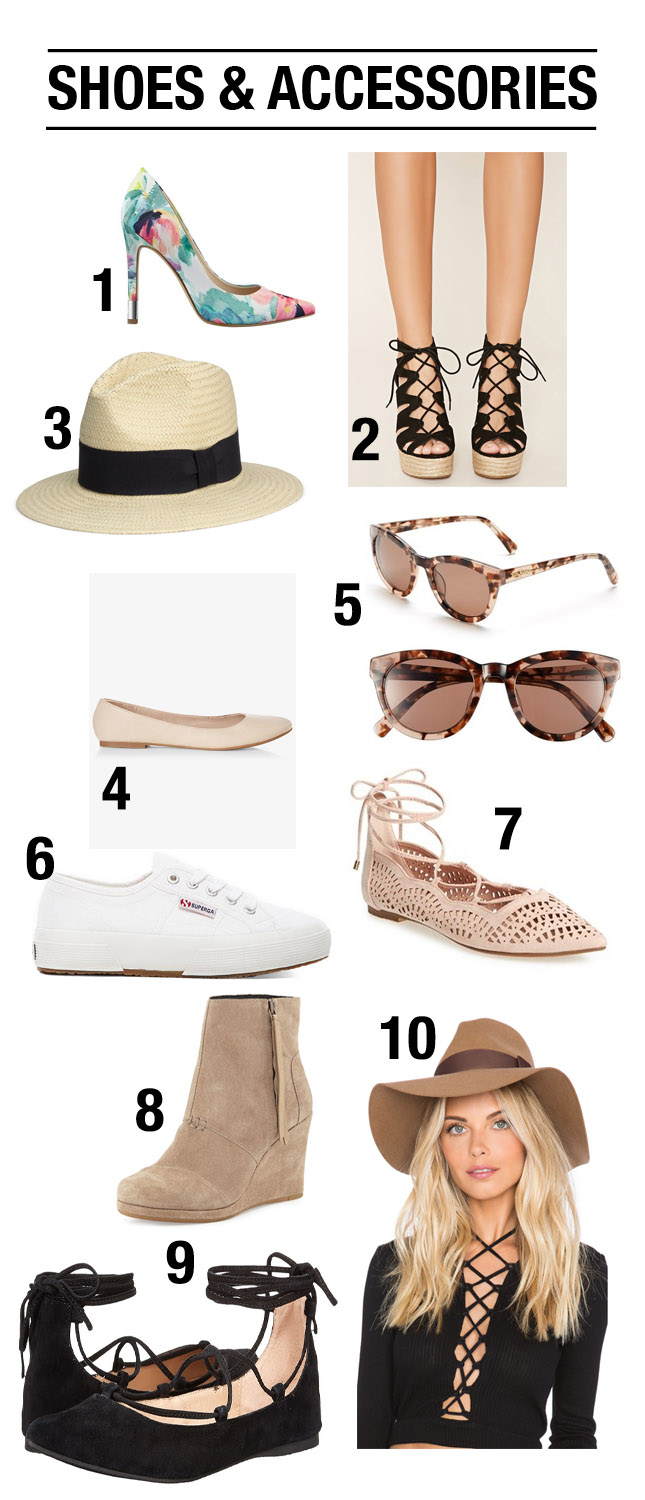 shoes and accessories for spring