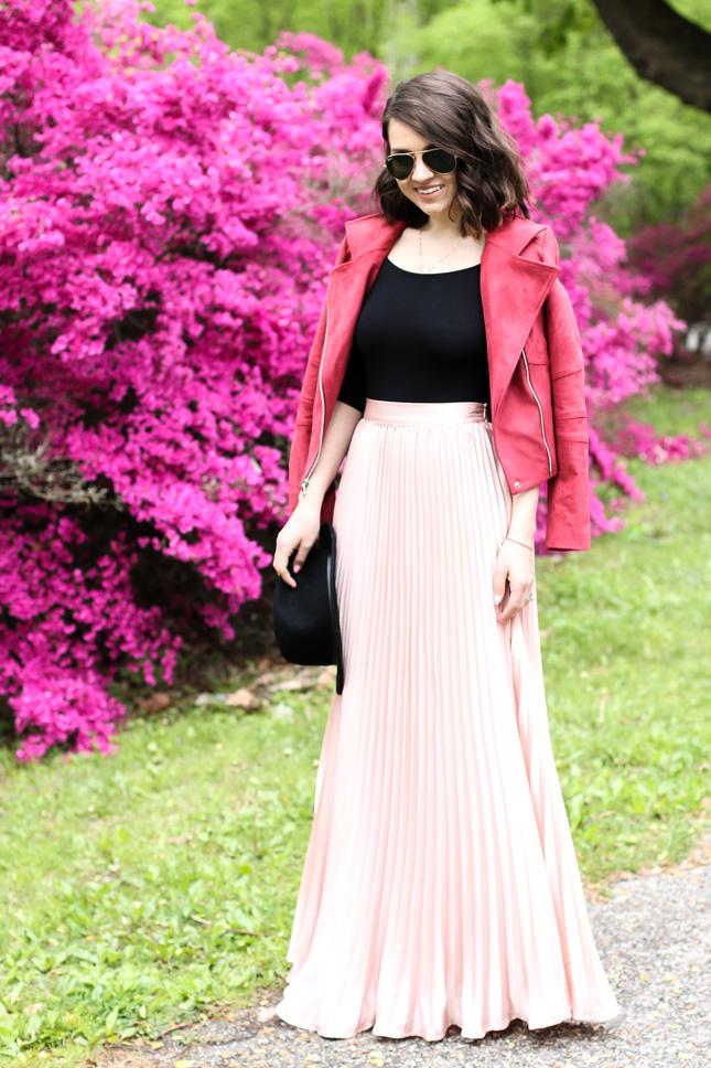 romwe-maxi-pink-skirt
