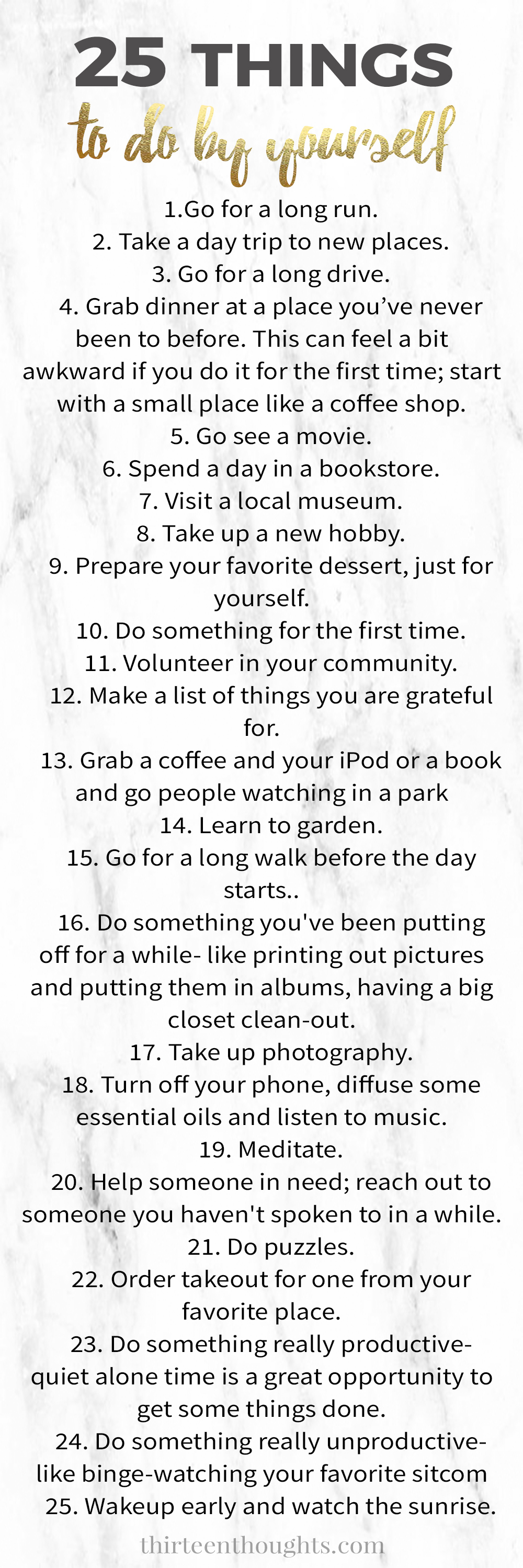 Things to do by yourself